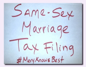 SAME-SEX MARRIAGE TAX FILING